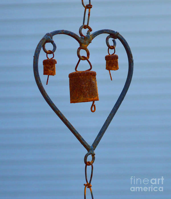 Heart Poster featuring the photograph Rusty Heart 1 by Alys Caviness-Gober
