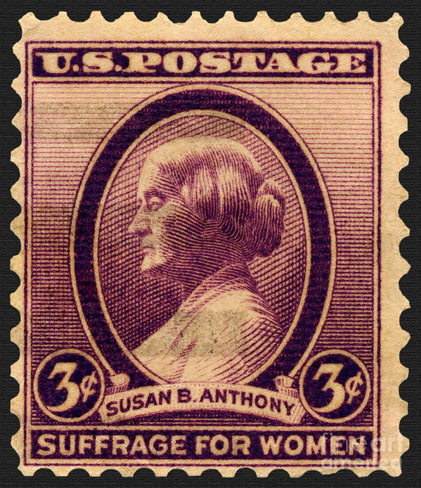 Postage Stamp Poster Featuring The Photograph Susan B Anthony Commemorative By Phil Cardamone