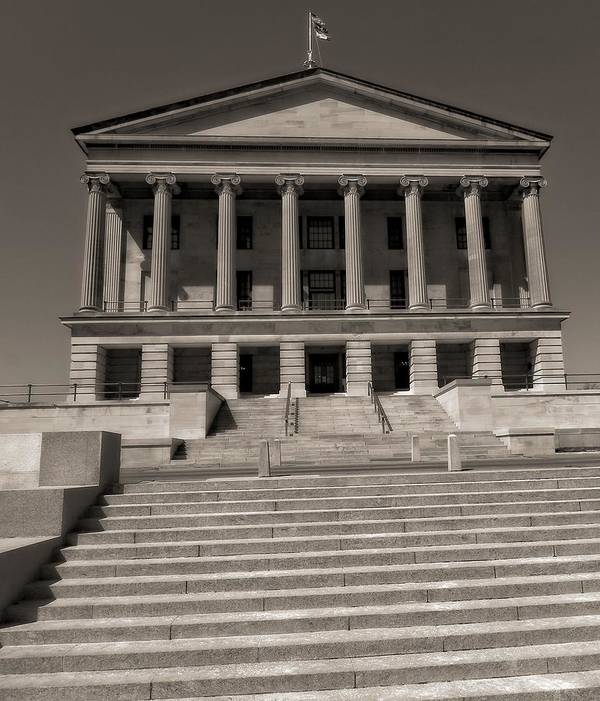 Tennessee Capitol Building Poster featuring the photograph Tennessee Capitol Building by Dan Sproul