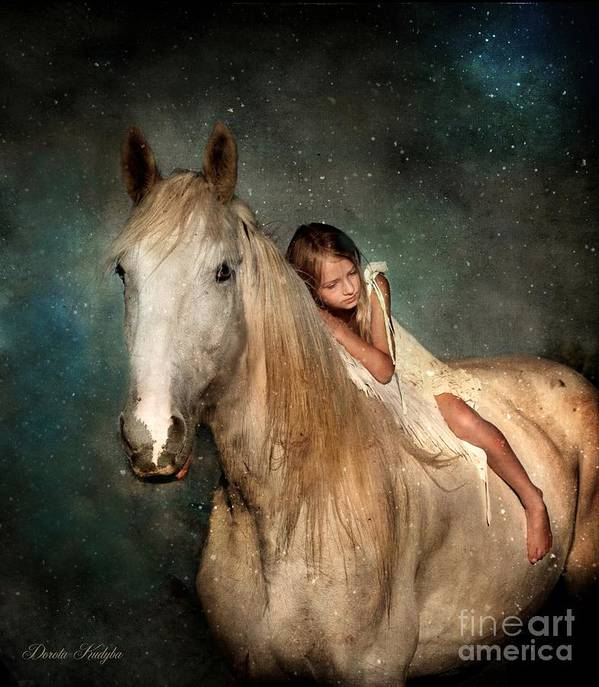 Horse Poster featuring the photograph The Guardian Angel by Dorota Kudyba