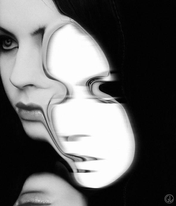 Woman Poster featuring the digital art The Mask by Gun Legler