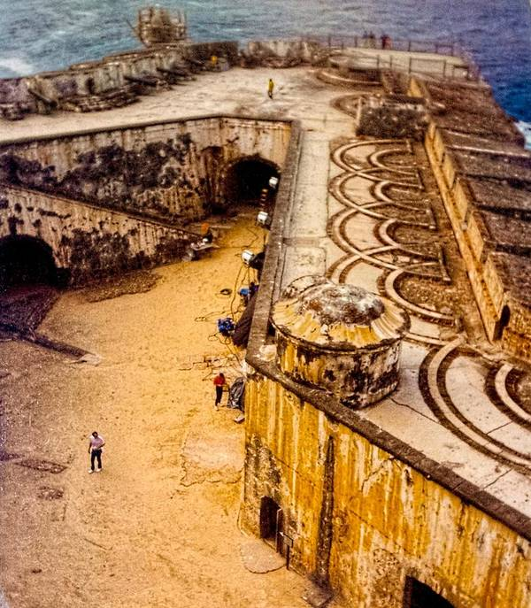 el Morro Poster featuring the photograph The Promontory Of The Caribbean by Sandra Pena de Ortiz