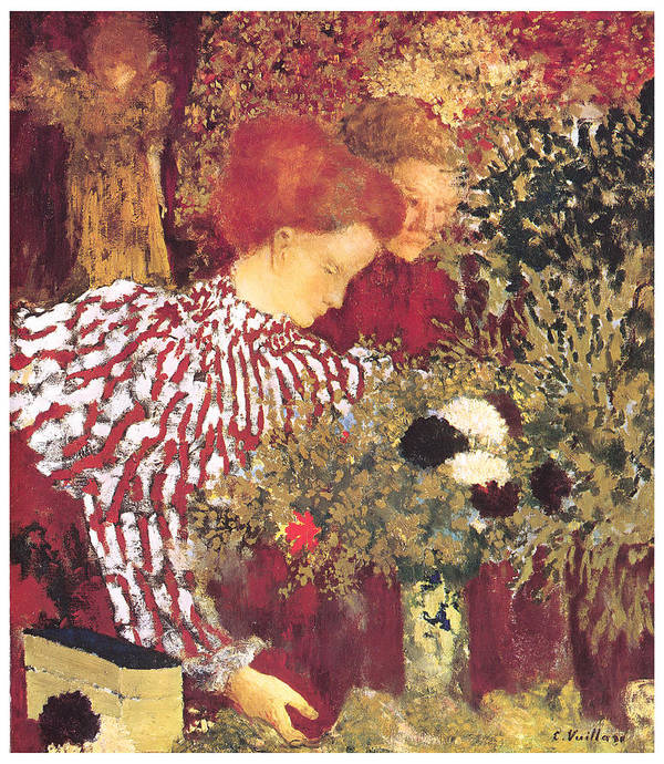 Edouard Vuillard Poster featuring the painting The Striped Blouse by Edouard Vuillard