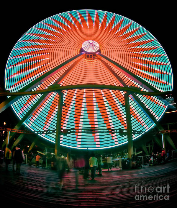 156 Foot Tall Poster featuring the photograph Wildwood's Giant Wheel by Mark Miller