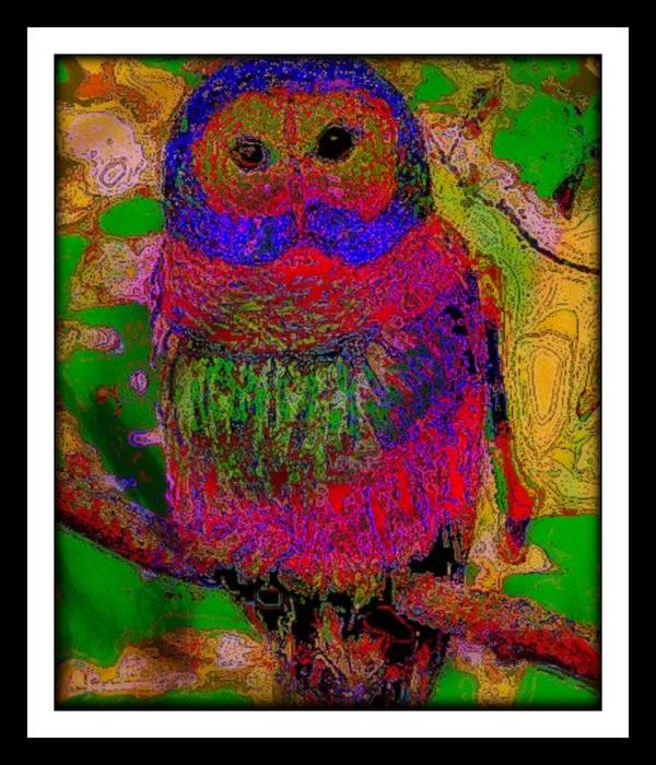 Animals Poster featuring the mixed media Wisdom by Wendie Busig-Kohn