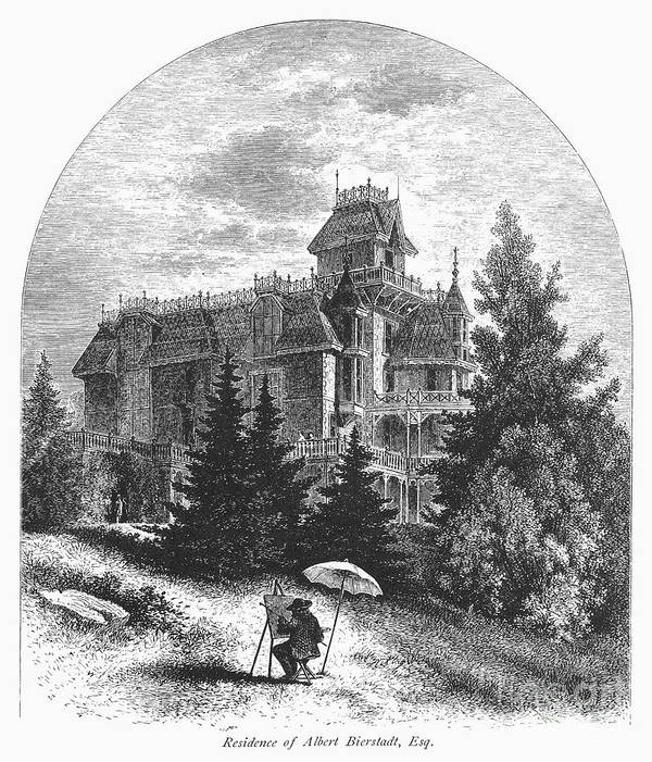 1876 Poster featuring the photograph Albert Bierstadt (1830-1902) by Granger