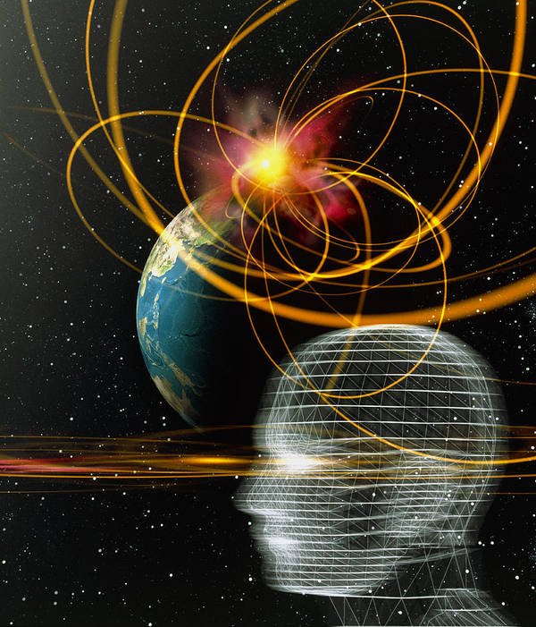 Move Movement Moving Poster featuring the photograph Head In Space by Mehau Kulyk