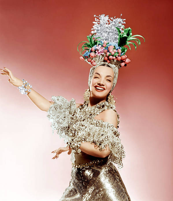 1940s Portraits Poster featuring the photograph That Night In Rio, Carmen Miranda, 1941 by Everett