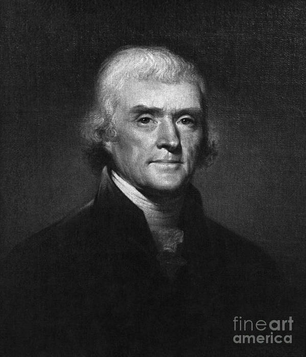 History Poster featuring the photograph Thomas Jefferson, 3rd American President by Omikron