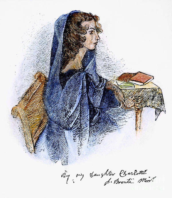 19th Century Poster featuring the photograph Ann Bronte (1820-1849) by Granger