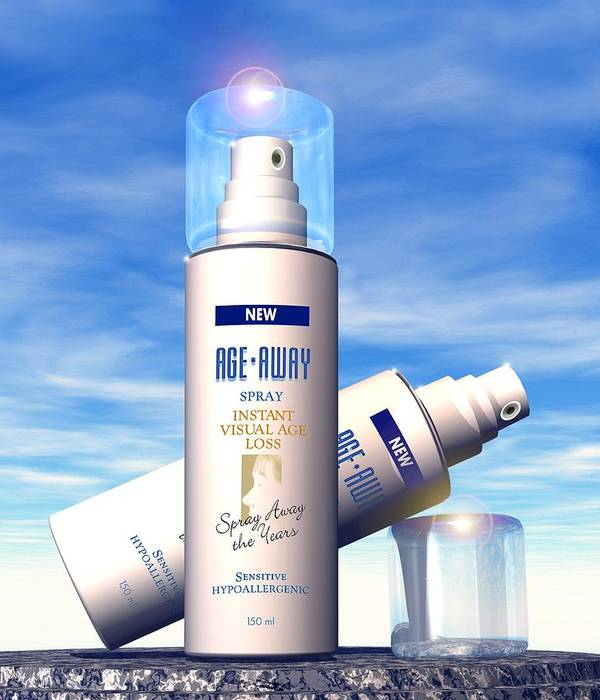 Anti-ageing Poster featuring the photograph Anti-ageing Cosmetics by Victor Habbick Visions