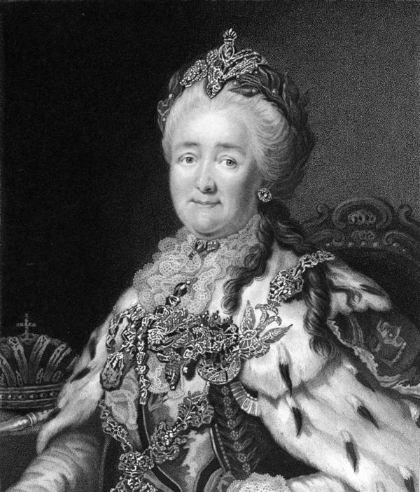 1700s Poster featuring the photograph Catherine The Great, Empress Of Russia by Middle Temple Library