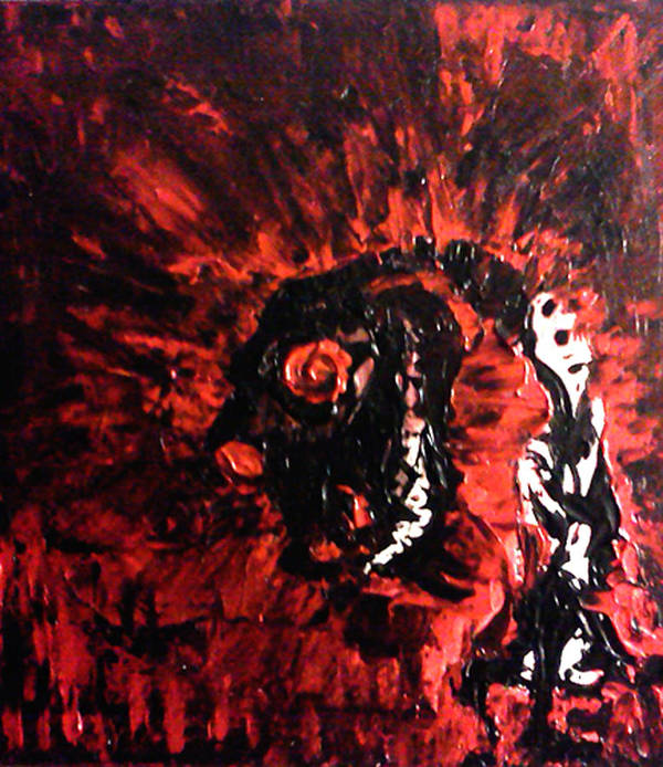 Demon Poster featuring the painting Dizard by Aaron Smith
