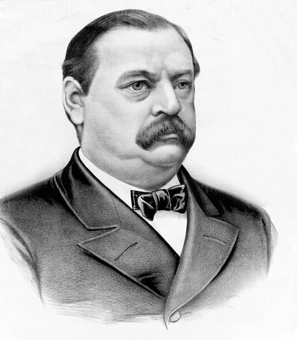 president Grover Cleveland Poster featuring the photograph Governor Grover Cleveland - Twenty Second President Of The Usa by International Images