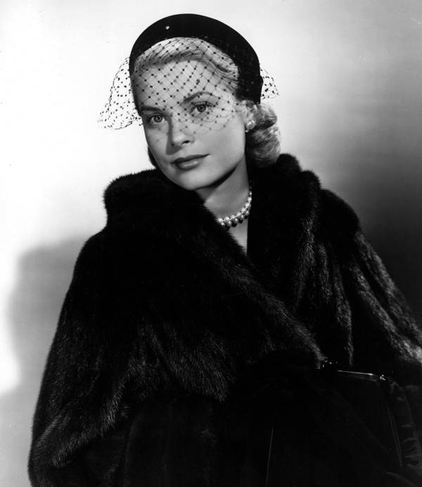 Fur Coat Poster featuring the photograph Grace Kelly In The Early 1950s by Everett