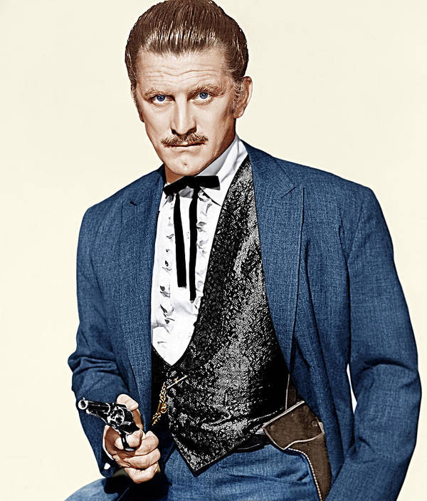 1950s Portraits Poster featuring the photograph Gunfight At The O.k. Corral, Kirk by Everett