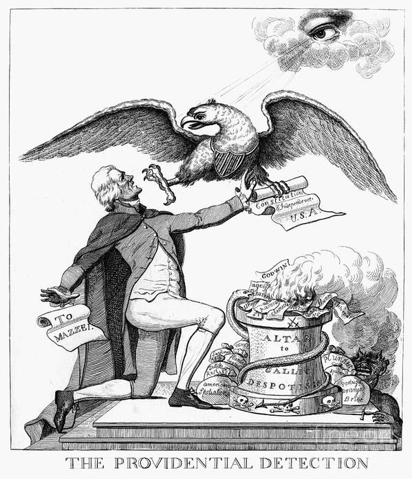 1800 Poster featuring the photograph Jefferson: Cartoon, 1800 by Granger