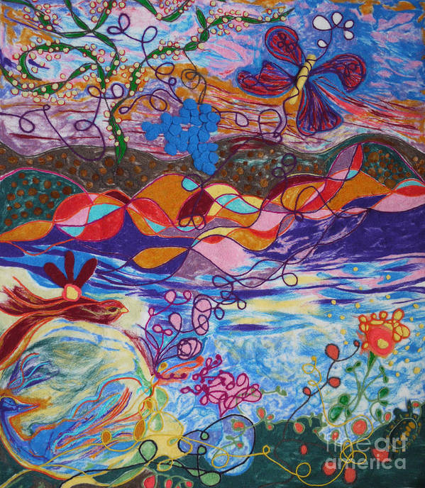 Abstract Poster featuring the painting River Of Life by Heather Hennick