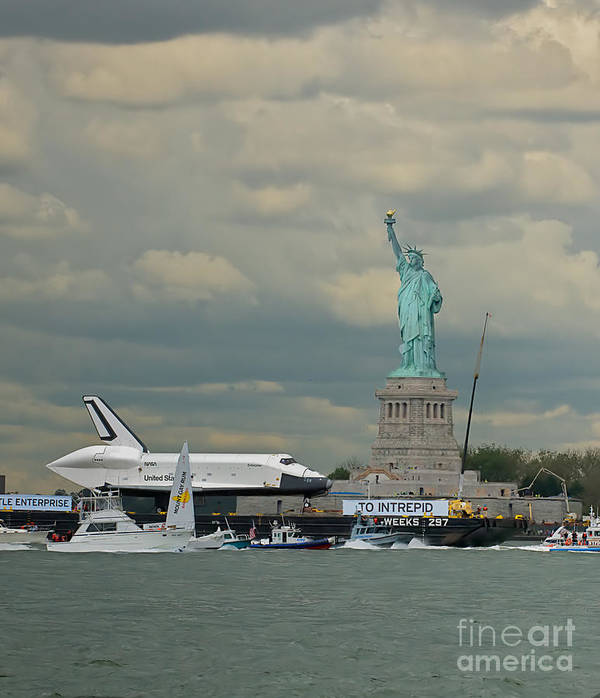 Space Shuttle Poster featuring the photograph Space Shuttle Enterprise 1 by Tom Callan