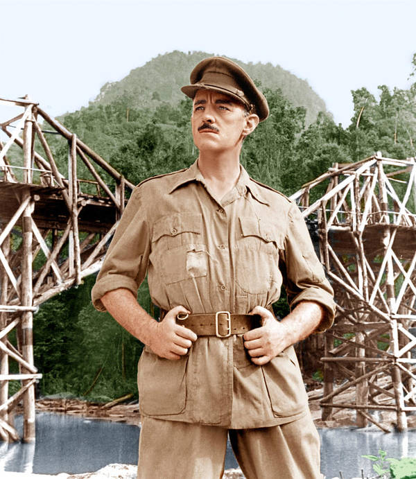 1950s Portraits Poster featuring the photograph The Bridge On The River Kwai, Alec by Everett
