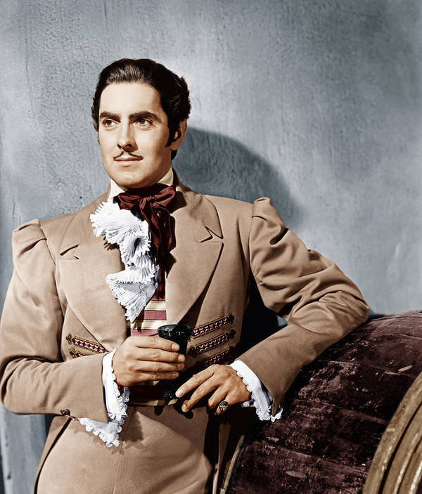 1940 Movies Poster featuring the photograph The Mark Of Zorro, Tyrone Power, 1940 by Everett