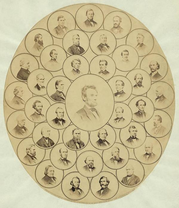History Poster featuring the photograph U.s. Senators Who Voted Aye On The 13th by Everett