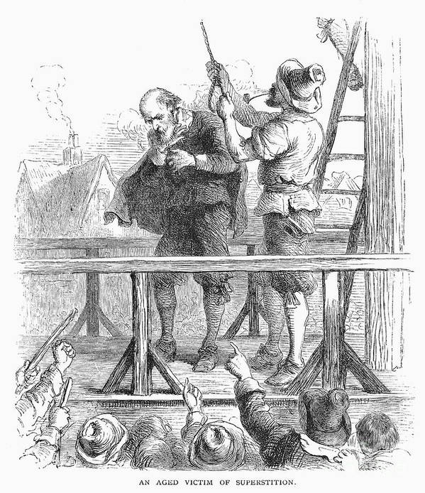 1692 Poster featuring the photograph Witch Trial: Execution, 1692 by Granger