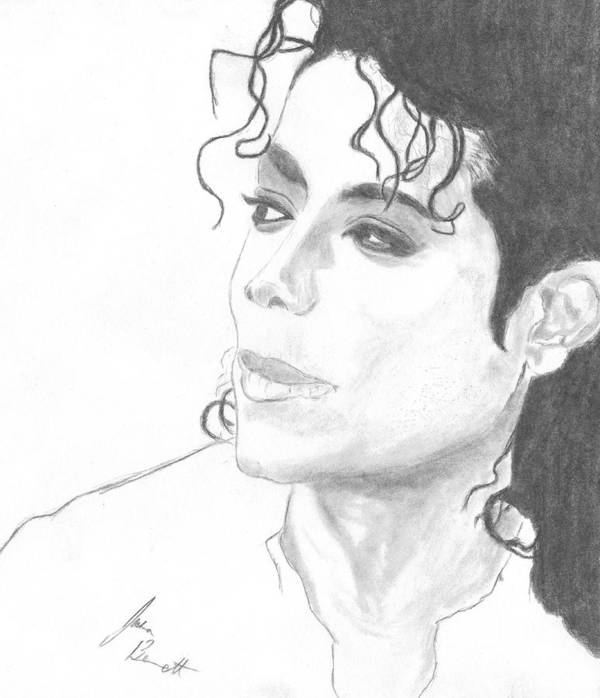 Michael Jackson Poster featuring the drawing Remembering Michael by Josh Bennett