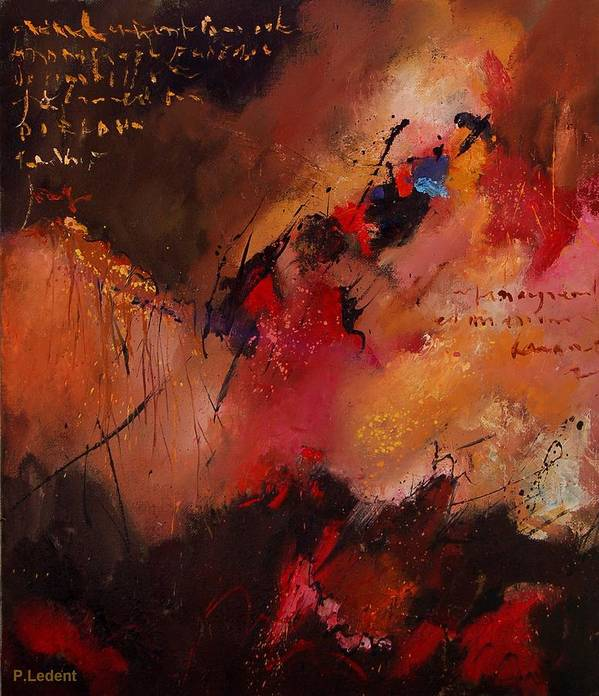 Abstract Poster featuring the painting Abstract 0408 by Pol Ledent