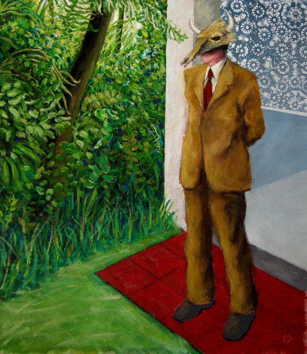 Figure-landscape Poster featuring the painting Among Us. by Paul Sierra