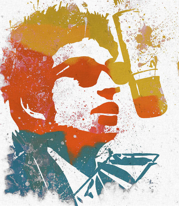 Bob Dylan Watercolor Poster featuring the mixed media Bob Dylan by Dan Sproul