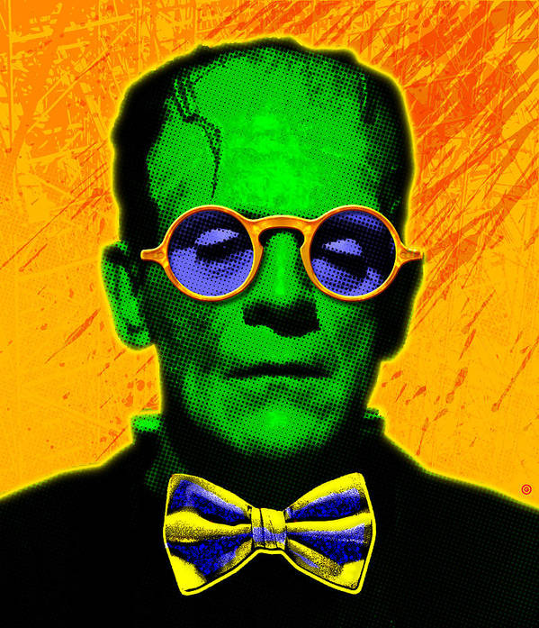 Pop Art Poster featuring the painting Dapper Monster by Gary Grayson