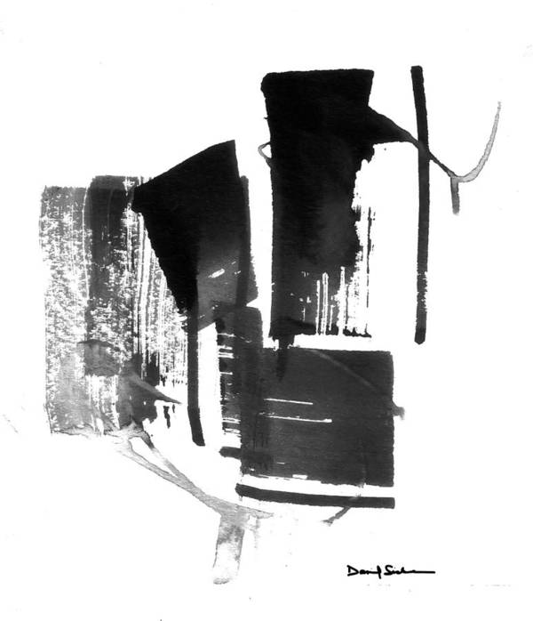 Abstract Poster featuring the painting Extract 5 by Dan Sisken