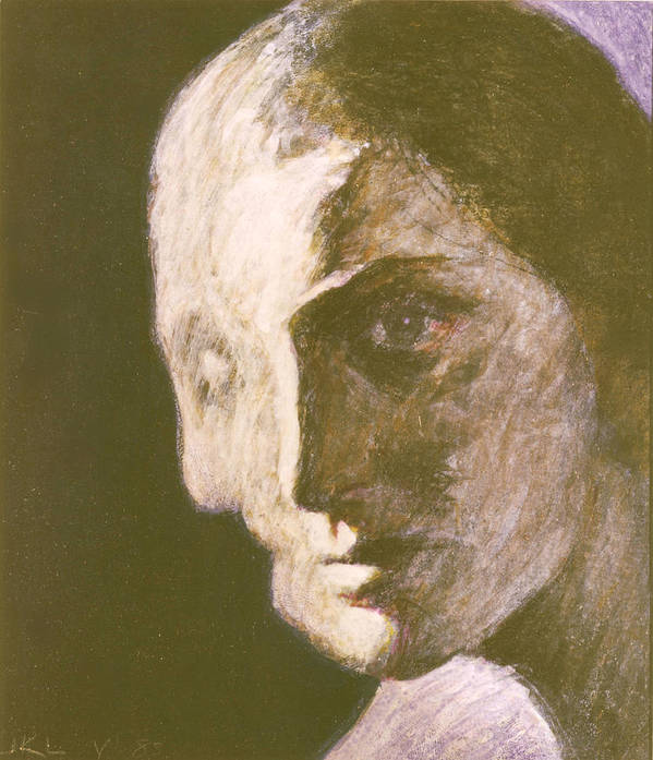 Head-study Poster featuring the painting Fear Of Growing Old by James LeGros