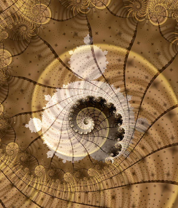 Fractal Poster featuring the digital art Fossil by David April