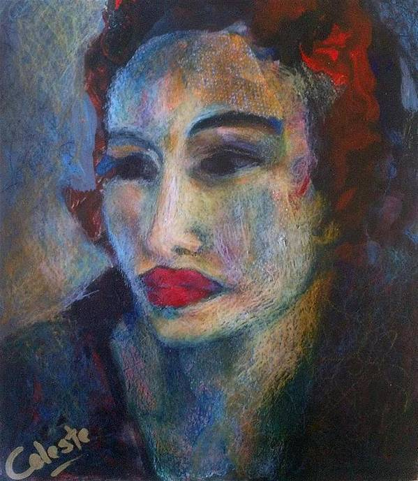 Gavriella - An Original Painting By Overberg Artist Celeste Fourie-wiid Poster featuring the painting Gavriella by Celeste Fourie-wiid