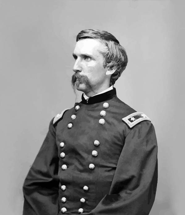 Joshua Lawrence Chamberlain Poster featuring the painting General Joshua Lawrence Chamberlain by War Is Hell Store