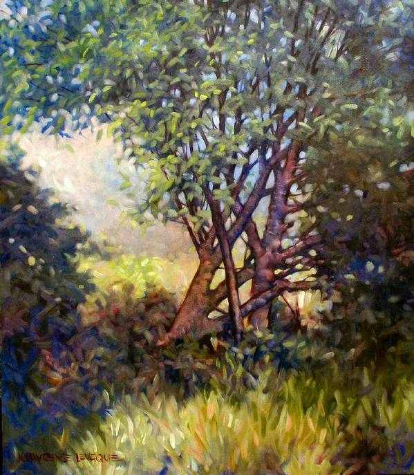 Landscape Poster featuring the painting Grateful Mulberry by Kevin Lawrence Leveque