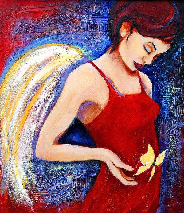 Woman Poster featuring the painting Hope by Claudia Fuenzalida Johns