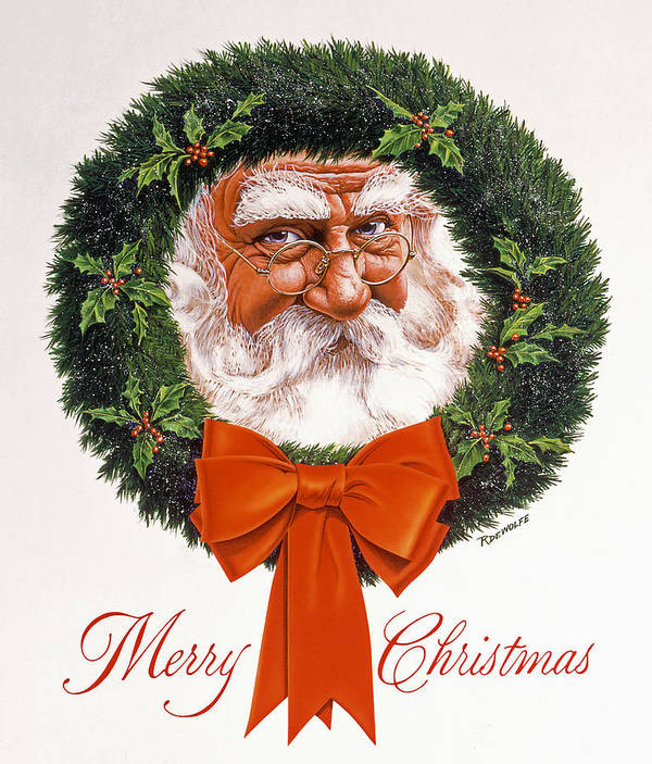 Santa Poster featuring the painting Jolly Old Saint Nick by Richard De Wolfe