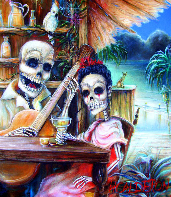Dia De Lost Muertos Poster featuring the painting La Borracha by Heather Calderon