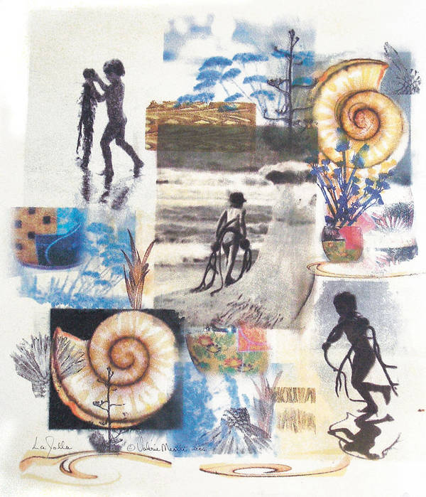 Abstract Poster featuring the painting Lajolla by Valerie Meotti