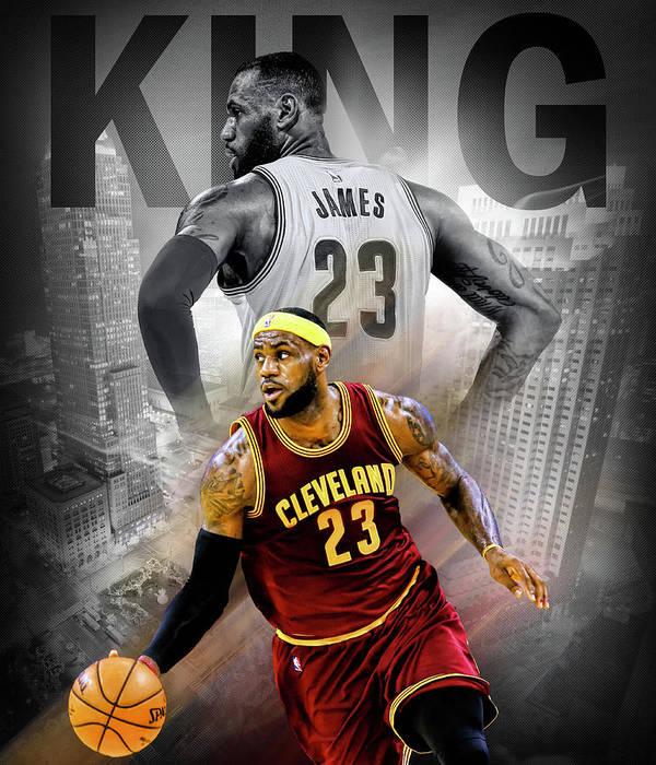 online store 4ce38 1c731 Lebron James - King James Poster