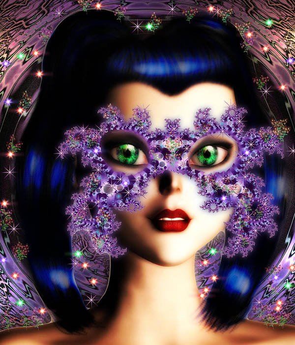 Art Poster featuring the digital art Masquerade by Dorothy Lee