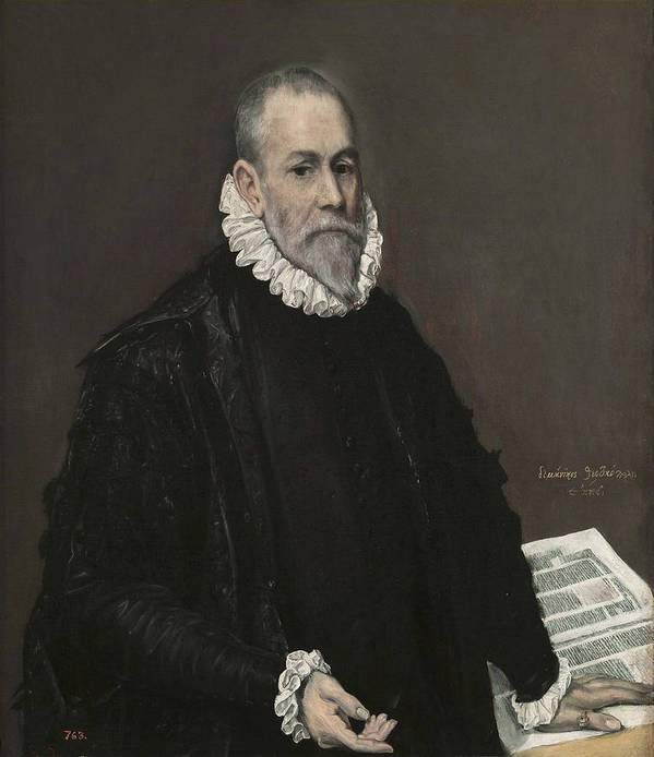 Beard Poster featuring the painting Portrait Of A Doctor by El Greco