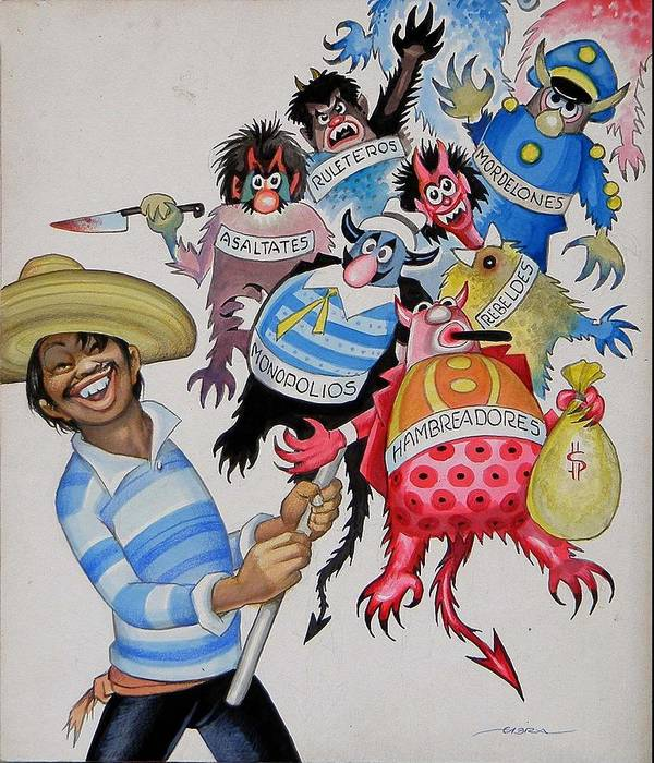 Mexico Poster featuring the painting Street Vendor by Ernesto Garcia Cabral