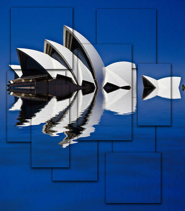 Sydney Opera House Poster featuring the photograph Sydney Opera House Collage by Sheila Smart Fine Art Photography