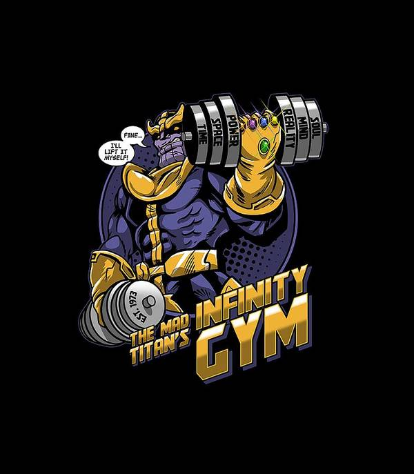 Thanos Comics Gym Workout Poster
