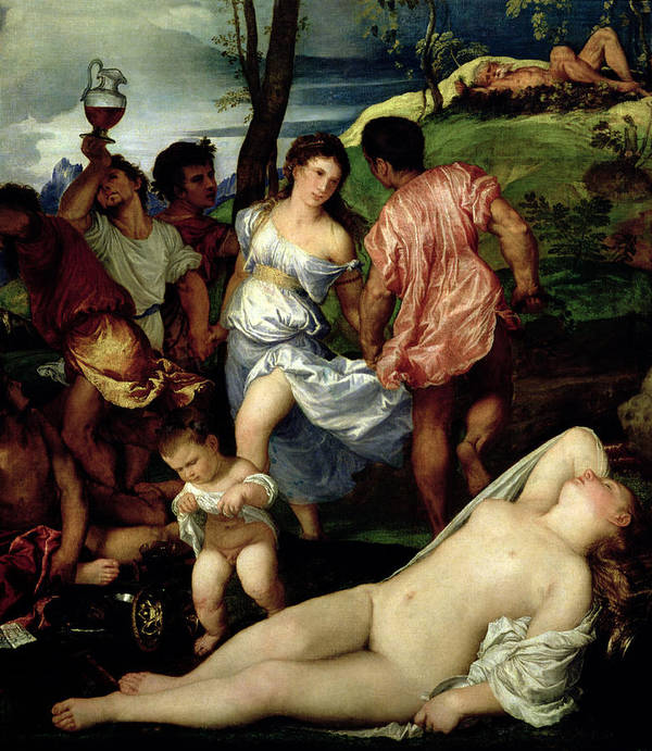 The Poster featuring the painting The Andrians by Titian