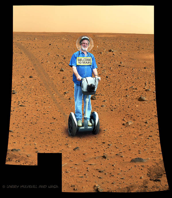 Segway Poster featuring the photograph Welcom To Mars by Larry Mulvehill